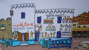 Un dibujante español rescata el pueblo desaparecido entre las tumbas de los faraones