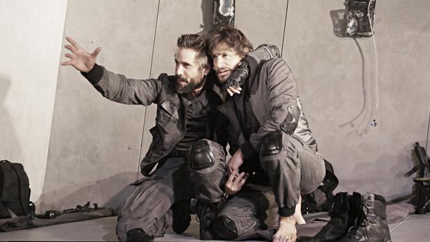 Unax Ugalde e Iván Hermes, en un ensayo de la función