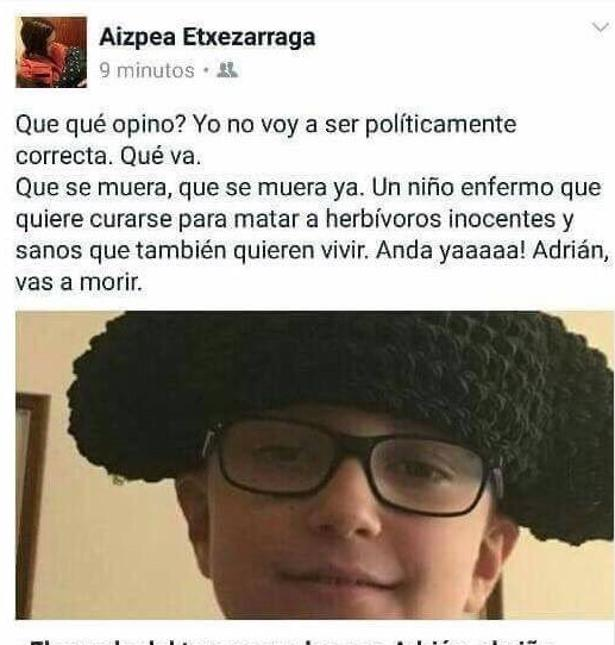 El salvaje comentario de Aizpea Etxezarraga