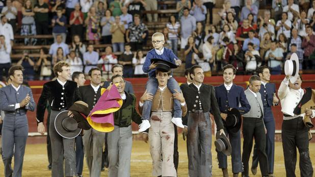 Adrián, en el festival taurino benéfico que se organizó en Valencia