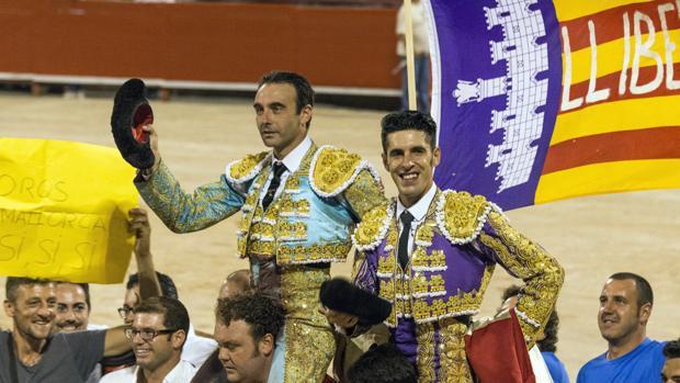 Ponce y Talavante salen a hombros el pasado agosto en Palma de Mallorca
