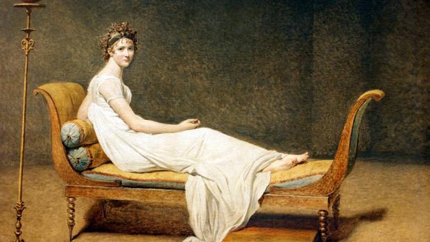 Entre las mujeres a las que «retrata» Charles Augustin Sainte-Beuve destaca «Madame» de Récamier (en la imagen pintada por Jacques-Louis David en 1800)
