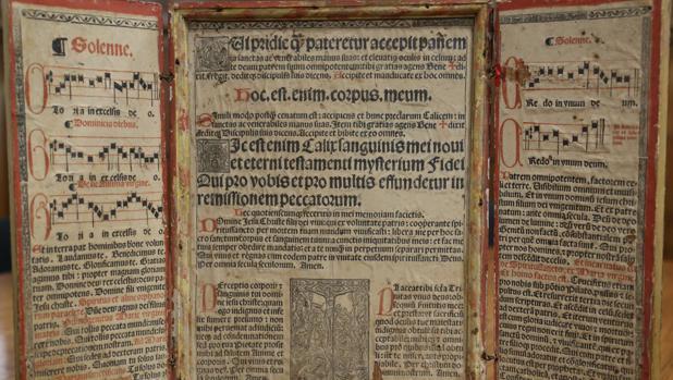 La Biblioteca Nacional compra una tablilla de oraciones secretas, el «prompter» del siglo XVI