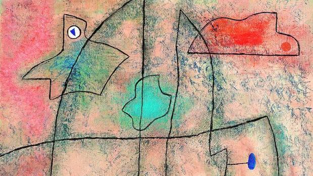 «La Cafetière I», obra de Jean Dubuffet que perteneció a la colección personal de Hergé