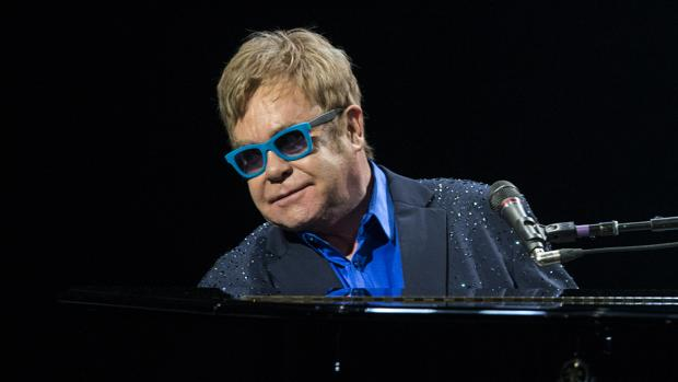 Elton John durante su concierto en Madrid en julio de 2015