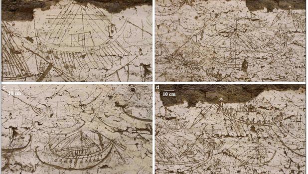 Algunos de los grabados descubiertos junto a la tumba de Sesostris III