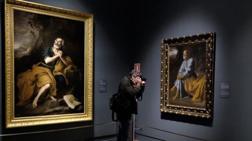San Pedro, en las versiones de Murillo (a la izquierda) y Velázquez