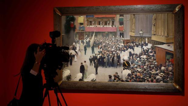 Vista del «Corpus Christi» de Casas, una de las obras de la exposición