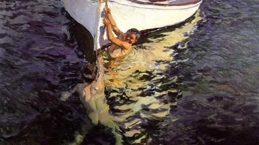 «El bote blanco, Jávea» (1905), de Sorolla