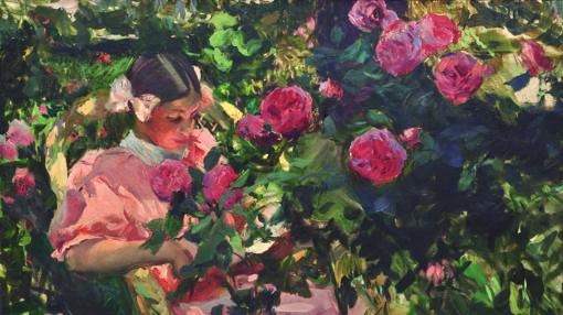 «Elena entre rosas» (1907), de Sorolla