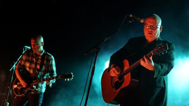 Joey Santiago y FrankBlack, anoche en Barcelona
