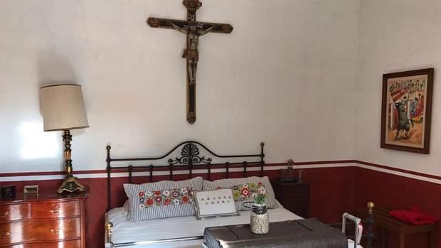 Habitación en la que dormía Manolete en la ganadería mexicana de La Punta