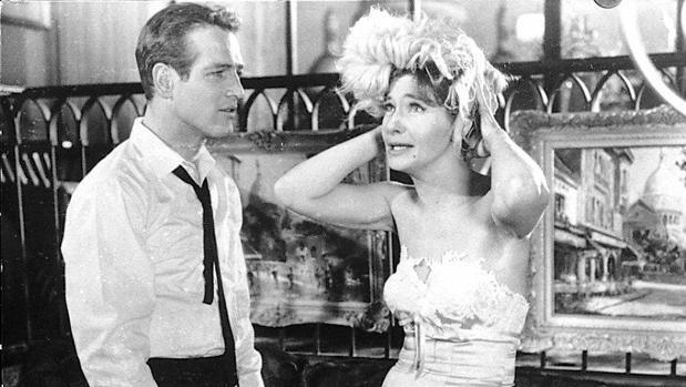 Newman en época cercana al filme con Joanne Woodward ABC