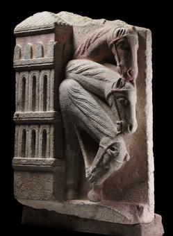 «Caballos del cortejo de los Reyes Magos» (h. 1200), del Maestro Mateo