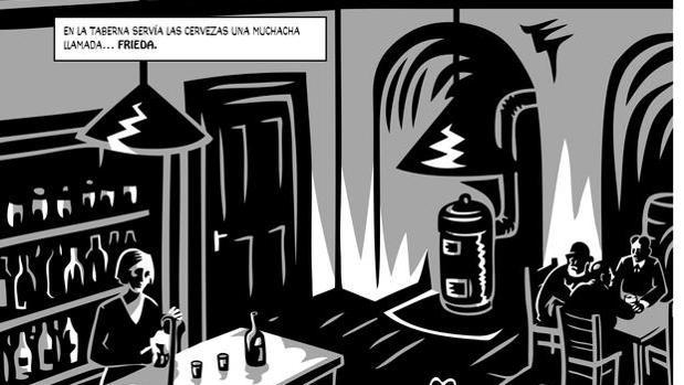 Detalle de ilustración de Jaromir 99 para «El castillo» (Nórdica, 2014)