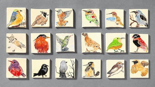 «Pájaros», una obra de Andrei Cristea, recluso de la prisión Brians 2