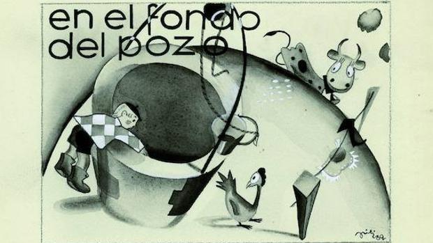 «En el fondo del pozo», dibujo publicado en «Gente Menuda» en 1932