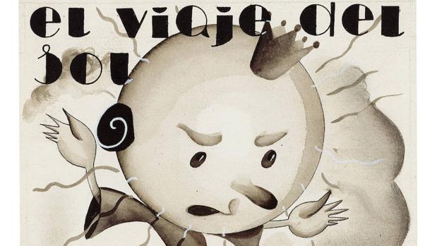 «El viaje del Sol», dibujo publicado en «Gente Menuda», sin fecha
