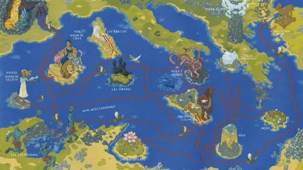 El escenario donde se desarrolla la Odisea