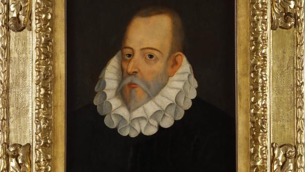 Retrato de Cervantes conservado en la Real Academia Española