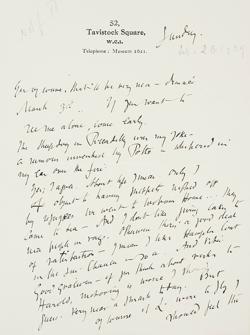 Una de las cartas de la correspondencia que mantuvieron Virginia Woolf y Vita Sackville-West