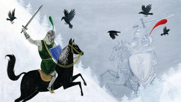 Ilustración de Marta Ponce para «El caballero doble», de Théophile Gautier (Gadir)