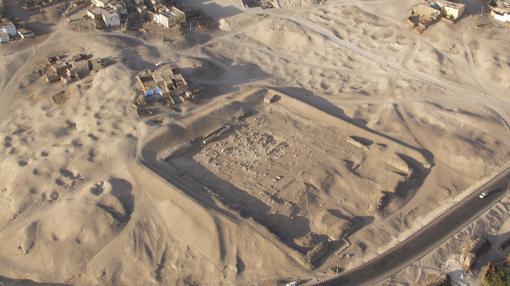 Imagen aérea de la zona de excavación