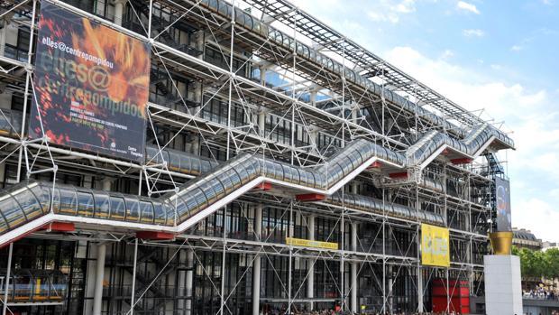 El emblemático edificio del Centro Pompidou