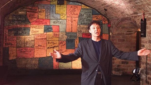 Paul McCartney, en una visita a la mítica sala de conciertos