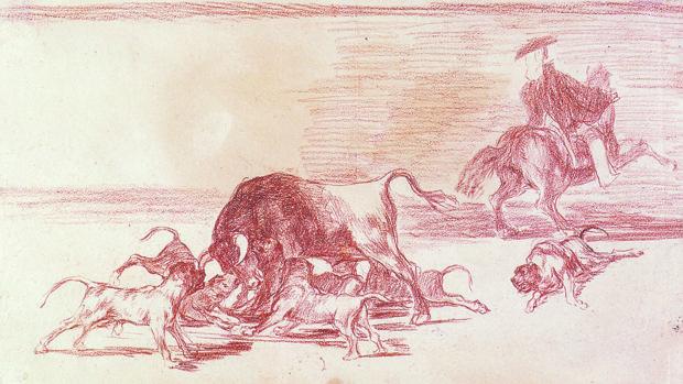 «Echan perros al toro», de Goya
