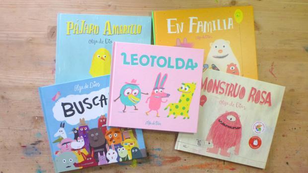 Algunos de los libros editados en España de Olga de Dios