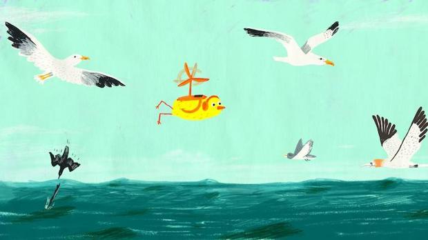 Ilustración perteneciente al libro «Pájaro Amarillo» (Apila Ediciones, 2015)