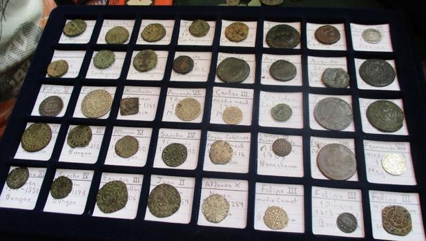 Monedas antiguas recuperadas en la operación policial Pandora