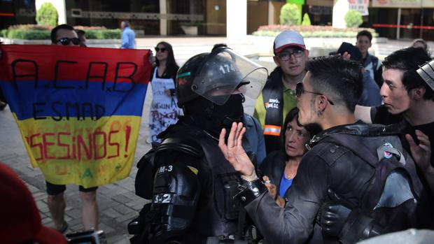Manifestación antitaurina del pasado domingo en los alrededores de la Santamaría
