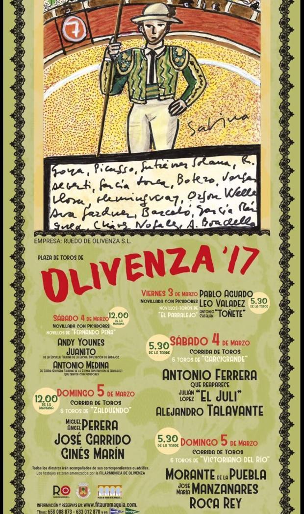Cartel de la Feria de Olivenza