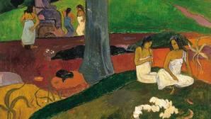 «Mata Mua (Érase una vez)», de Gauguin. Detalle