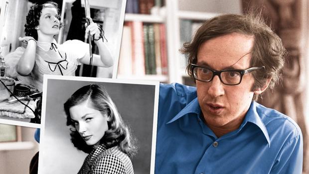 Gottlieb, en un fotomontaje, junto a dos actrices cuyas memorias editó: Hepburn y Bacall