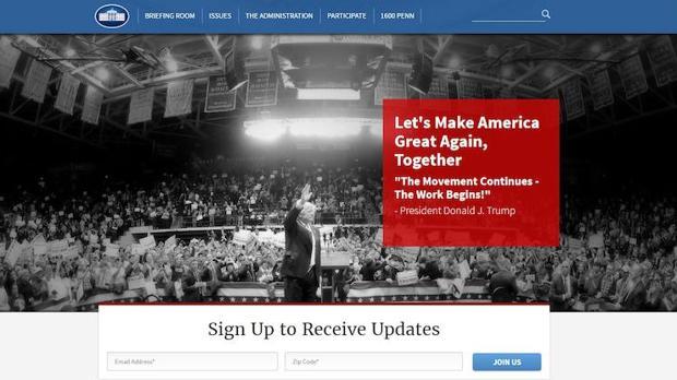 Web de la Casa Blanca