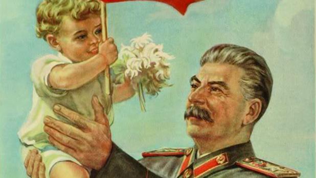 Cartel propagandístico de la Unión Soviética
