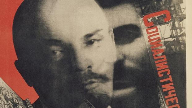 «Bajo el estandarte de Lenin. Construcción socialista» (1930), de Gustav Klutsis