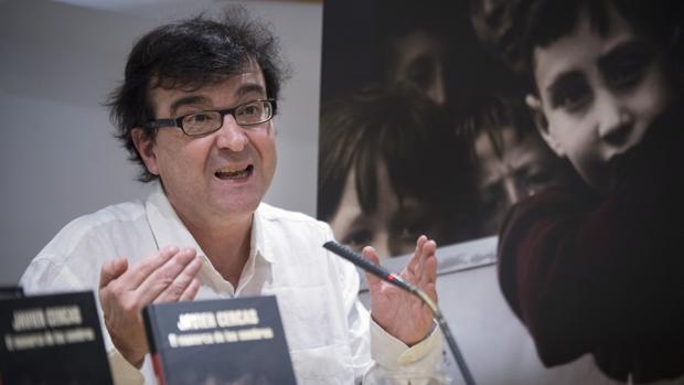 Javier Cercas, durante la presentación de «El monarca de las sombras», su última novela