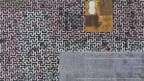 Maisterra Valvuena simultanea en su galería y su estand a Sanmiguel Diest (detalle de una de sus obras)