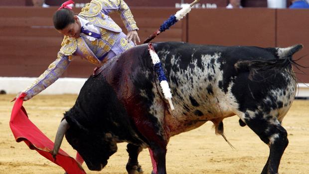 La torera murciana Conchi Ríos, en la Condomina