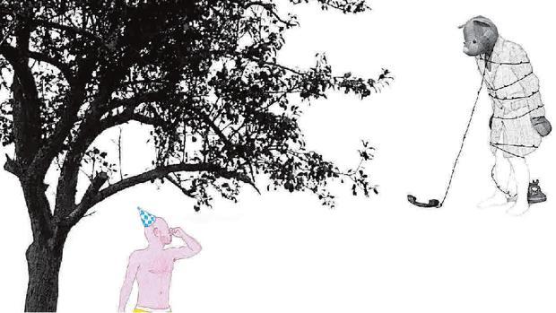 Boceto de la propuesta de José Antonio Vallejo para ABC en ARCO