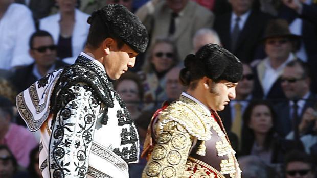 Morante de la Puebla y Manzanares, en un paseíllo en la Maestranza