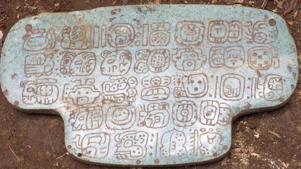 El colgante de jade fue encontrado en Belice en 2015
