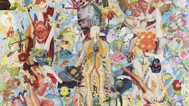 Detalle de «Paraíso», «collage», de Mauricio Garrido