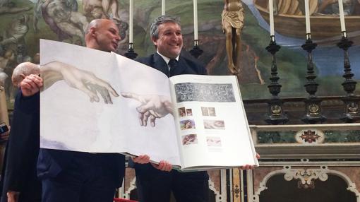 Reproducción a tamaño real de «El Juicio de Adán» de Miguel Ángel a tamaño real