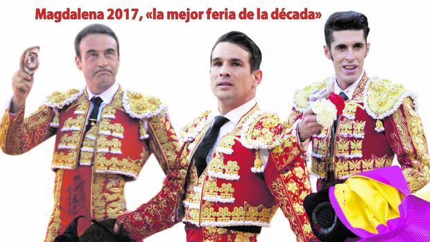 Enrique Ponce, Manzanares y Talavante, tres de las figuras que actúan este año en Castellón