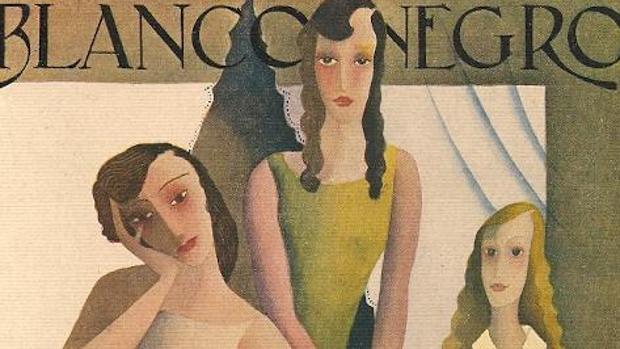 «Tres muchachas en un balcón», portada de Blanco y Negro de 1929